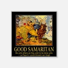 "Good Samaritan Square Sticker 3"" x 3"""