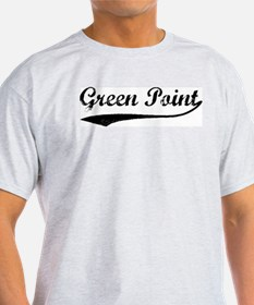 Green Point - Vintage Ash Grey T-Shirt