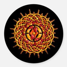 Celtic Sun Round Car Magnet