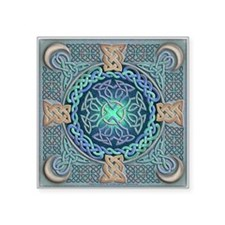 "Celtic Eye of the World Square Sticker 3"" x 3"""