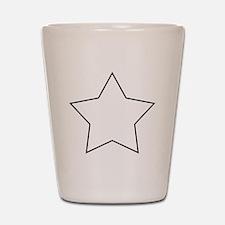 White.Star.png Shot Glass