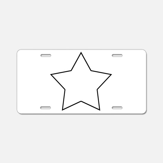 White.Star.png Aluminum License Plate