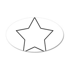 White.Star.png 38.5 x 24.5 Oval Wall Peel
