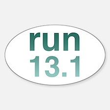 run13green_sticker.png Sticker (Oval)