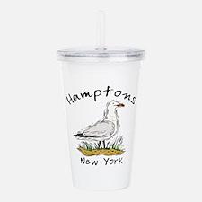 Hamptons NY Seagull Acrylic Double-wall Tumbler