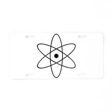 Atom Aluminum License Plate