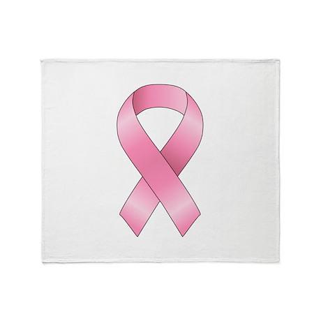 Breast Cancer Ribbon Throw Blanket