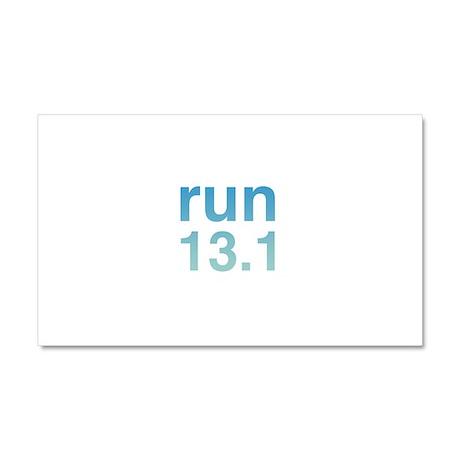 run13blue_sticker.png Car Magnet 20 x 12