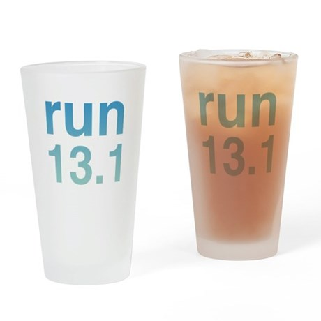 run13blue.psd Drinking Glass