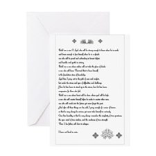 Build me a son, O Lord... Greeting Card