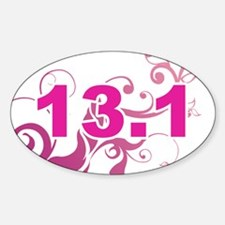 13.1_sticker_pink.png Sticker (Oval)