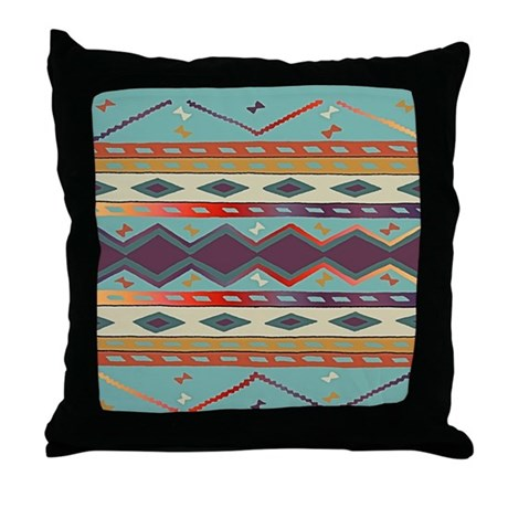 Southwest Indian Blanket Design Throw Pillow