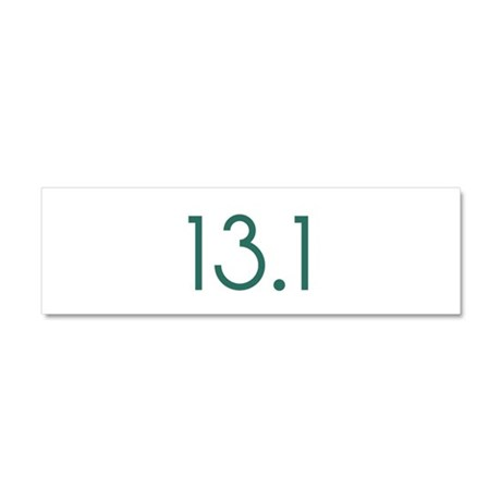 13.1_green_sticker.png Car Magnet 10 x 3
