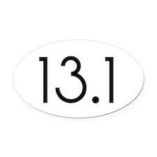 13.1_black_sticker.png Oval Car Magnet
