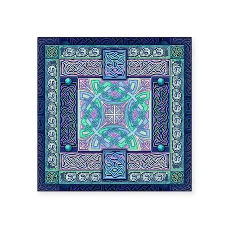 "Celtic Atlantis Opal Square Sticker 3"" x 3"""