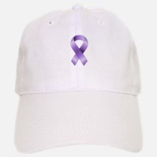 Purple Ribbon Baseball Baseball Cap