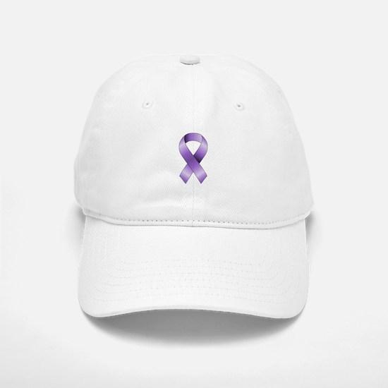 Purple Ribbon Baseball Baseball Cap