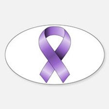 Purple Ribbon Decal