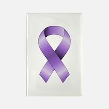 Purple Ribbon Rectangle Magnet