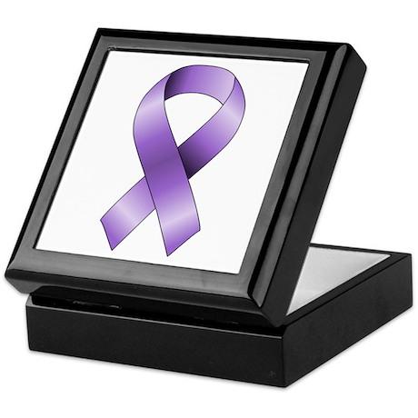 Purple Ribbon Keepsake Box