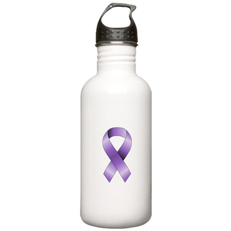 Purple Ribbon Stainless Water Bottle 1.0L