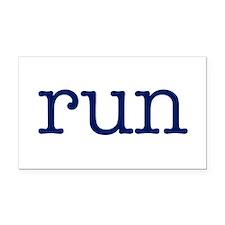 run_blue_sticker2.png Rectangle Car Magnet