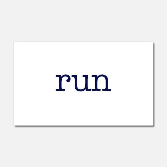 run_blue_sticker2.png Car Magnet 20 x 12