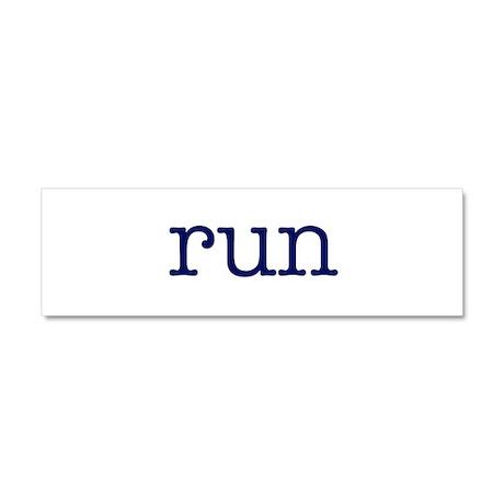 run_blue_sticker2.png Car Magnet 10 x 3