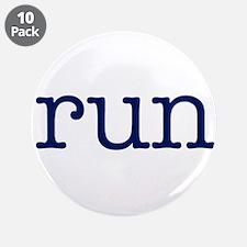 """run_blue_sticker2.png 3.5"""" Button (10 pack)"""