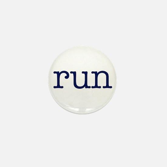 run_blue_sticker2.png Mini Button (10 pack)