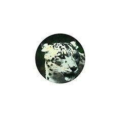 snow leopard Mini Button (100 pack)