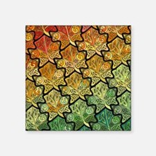 "Celtic Leaf Tesselation Square Sticker 3"" x 3"""