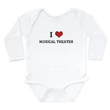 Cute Customized music Long Sleeve Infant Bodysuit
