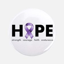 "Purple Ribbon Hope 3.5"" Button"