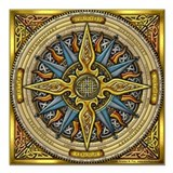 Celtic compass Square Car Magnets