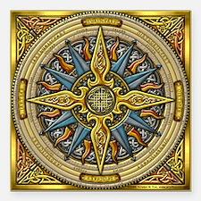 """Celtic Compass Square Car Magnet 3"""" x 3"""""""