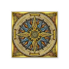 "Celtic Compass Square Sticker 3"" x 3"""