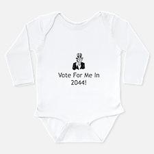 Cute Future president Long Sleeve Infant Bodysuit