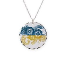 Ukraine Flag Necklace