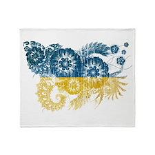 Ukraine Flag Throw Blanket
