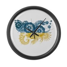 Ukraine Flag Large Wall Clock