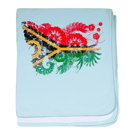 Vanuatu Flag baby blanket