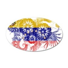 Venezuela Flag 38.5 x 24.5 Oval Wall Peel