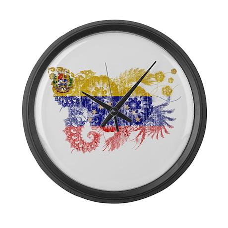 Venezuela Flag Large Wall Clock