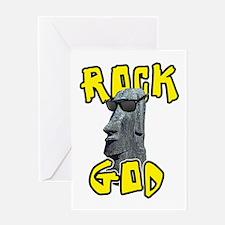 Rock God Greeting Card