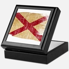 Alabama Flag Keepsake Box