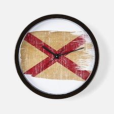 Alabama Flag Wall Clock
