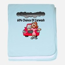 Carwash baby blanket
