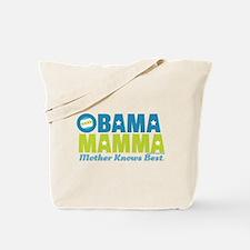 Obama Mamma - Teal/Lime Tote Bag