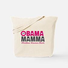 Obama Mamma - Pink/Dark Grey Tote Bag